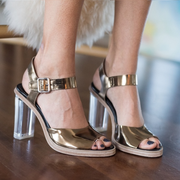 6d7b5191f70 AGL Plexi Glass Heel Sandals in Women s Shoes